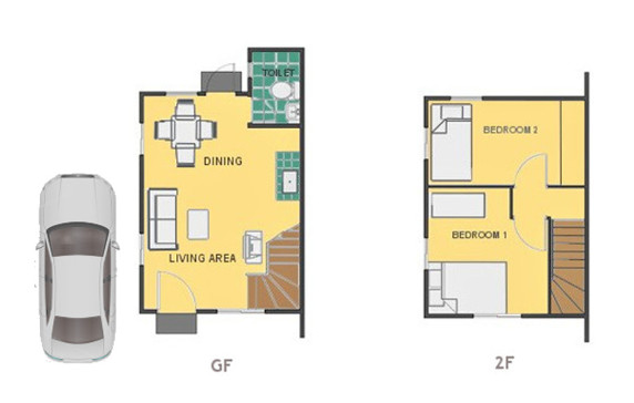 Mika Floor Plan House and Lot in Cebu