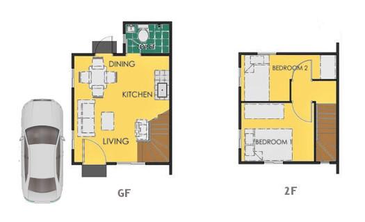 Reva Floor Plan House and Lot in Cebu