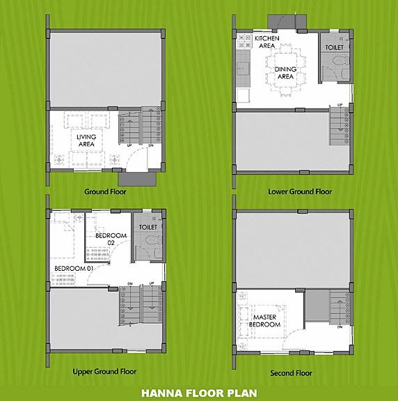 Hanna Floor Plan House and Lot in Cebu