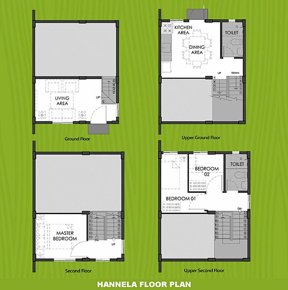 Hannela Floor Plan House and Lot in Cebu