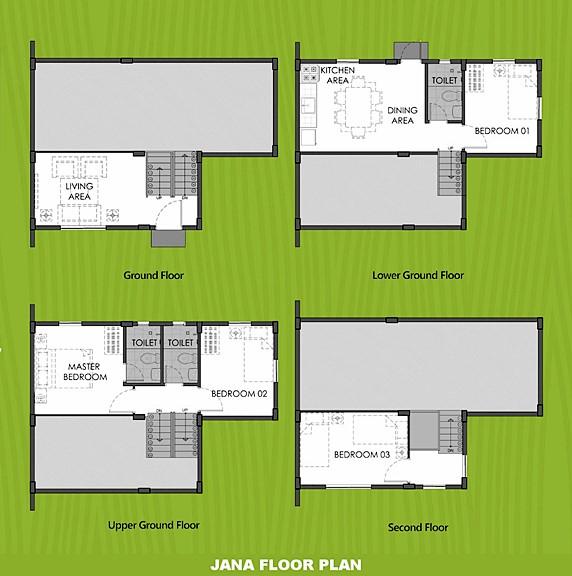 Janna Floor Plan House and Lot in Cebu