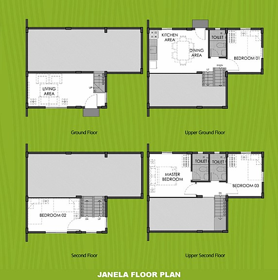 Janela Floor Plan House and Lot in Cebu