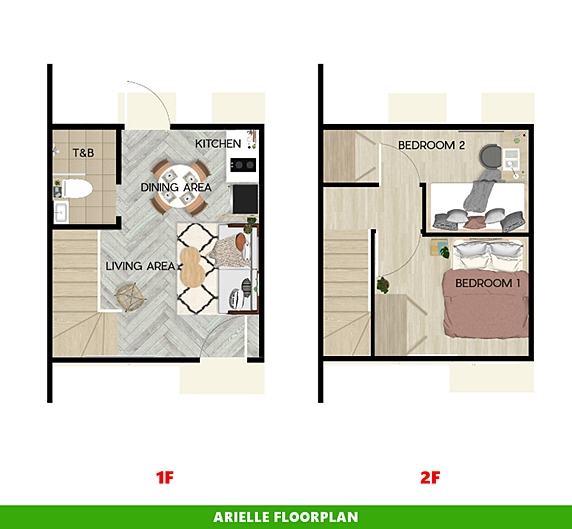 Arielle Floor Plan House and Lot in Cebu