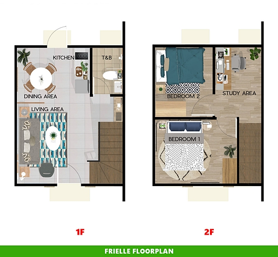 Frielle Floor Plan House and Lot in Cebu