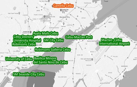 Cebu Property Vicinity Map